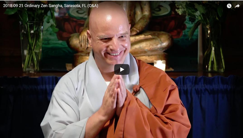 dharma talk video chong an sunim  at ozs-september-2018